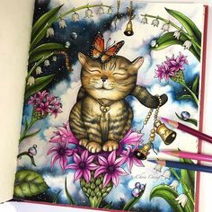 Freedom sharing how I color this page on my youtube channel, link in bio @colorvscolour . #magicaldelights #klaramarkova #coloringbook #coloringbookforadults #adultcoloringbook #prismacolor #coloredpencil #coloredpencils #coloring #colouring #Omalovánky #coloriage #colorir #chrischeng #colorvscolour #chriscoloring #catoftheday