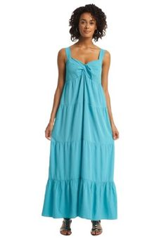 Amazon.com: Dress in soft crepe with tiers: Clothing