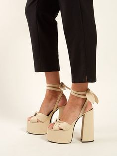Attempting to find a perfect bottom of heel to finish up off any look. Ysl Heels, Shoes Heels, Active Wear For Women, Women Wear, Heeled Boots, Shoe Boots, Heeled Sandals, Platform High Heels, Fashion Heels