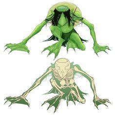 Kappa Skeleton Mythological Characters, Fantasy Creatures, Kappa, Art Google, Skeleton, Underwater, Mythology, Character Art, Adventure
