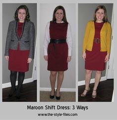burgundy dress with blazer - Google Search