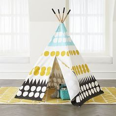 Sale ends soon. Ideal for a kids room or playroom our kids Teepee to Call Your Own (Multi-Dot) will provide hours of fun. Shop kids play houses, canopies and tents. Modern Playroom, Playroom Design, Playroom Ideas, Kids Tents, Teepee Kids, Teepees, Room Ideias, Camping Party Decorations, Girls Rugs