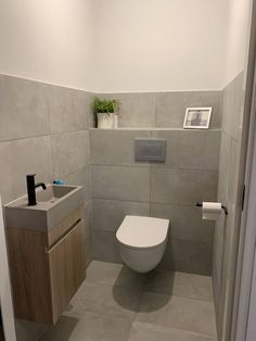Simple Bathroom Designs, Bathroom Design Luxury, Bathroom Design Small, Small Downstairs Toilet, Small Toilet Room, Toilet Room Decor, Small Toilet Design, Modern Toilet, Wc Design