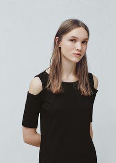 Ribbed jersey dress -  Women | MANGO USA