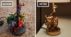 This DIY Lamp Combined With Action Figures Is Totally Epic - http://www.homedecoratingdiy.net/this-diy-lamp-combined-with-action-figures-is-totally-epic