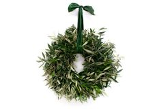 From the Garden - Hydrangea Wreath, Dried Olive Wreath, Green Wreath, Hydrangea Wreath, Floral Wreath, Green Ribbon, Merry And Bright, Christmas Wreaths, Xmas, Winter Wreaths