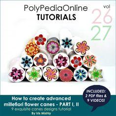 polypediaonline polymer clay tutorials millefiori flower