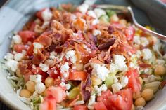 Zone Chopped BLT Salad Recipe: complete 3 block