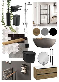 Bathroom Design Small, Bathroom Interior Design, Home Room Design, House Design, Interior Design Boards, Mood Board Interior, Dining Room Walls, New Home Designs, Home Staging