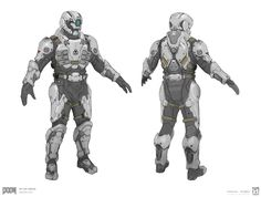 Armor sets for DOOM Multiplayer. All Images © id Software, LLC, a Zenimax Media Company.