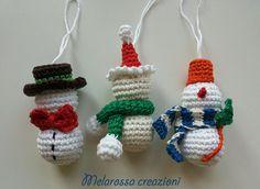Snowman amigurumi crochet Christmas decoration Christmas