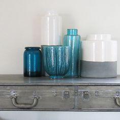 1000 images about dans la veranda on pinterest canapes metals and pots - Objet deco bleu turquoise ...