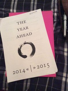 Lovely afternoon with @paperingasmile doing our 2014/2015 #yearcompass