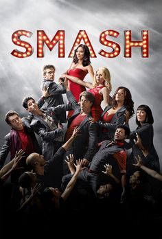 Smash Key Art -- Pictured: (top) Katharine McPhee as Karen Cartwright, (2nd row from top) Jack Davenport as Derek Wills, Megan Hilty as Ivy Lynn, (3rd row from top) Raza Jaffrey as Dev Sundaram, Christian Borle as Tom Levitt, Debra Messing as Julia Houston, (4th row from top) Brian d'Arcy James as Frank Houston, Jaime Cepero as Ellis, Anjelica Huston as Eileen Rand -- Photo by: Mark Seliger/NBC