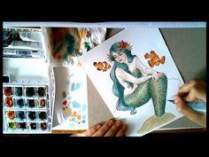 Tutoriel découverte des feutres aquarellables - YouTube