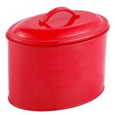 Boîte à biscuits en acier inoxydable - 19 x 13 x 12 cm - Couleur rouge 10000150102