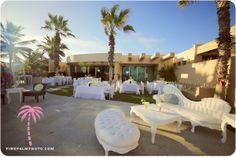Wedding reception setup at beachfront Villa Serena, Cabo San Lucas. Wedding planner: Leslie Bost, One Happenings. #cabo #wedding #destinationwedding #wedspiration #white #whitewedding #beachfront #bridetobe #cabosanlucas