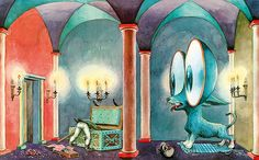 <p><em>The Tinderbox</em> illustration by innovative Swiss artist, Heinrich Strub, 1956.</p>