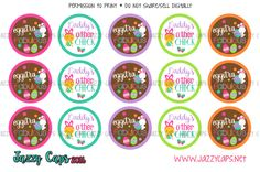 Easter bottle cap images Bottle Cap Magnets, Goodies, Easter, Digital, Sweet Like Candy, Gummi Candy, Easter Activities, Sweets