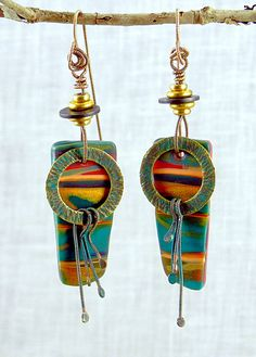 Valley of the Kings earrings - polymer clay by Stories They Tell, via Flickr
