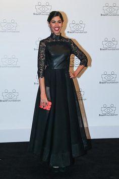 Bela Gil em noite de gala da  Brazil Foundation