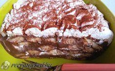 Csokis rakott babapiskóta recept fotóval No Bake Treats, No Bake Desserts, Hungarian Recipes, Hungarian Food, Cake Cookies, Tiramisu, Deserts, Food And Drink, Pudding