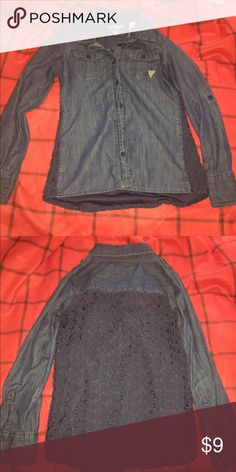Teens button up shirt Good condition (XL/16) Tops Button Down Shirts
