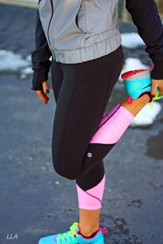 I so wish they were still selling these. I love black running leggings but I also love some color. This is the perfect balance.