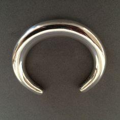 Gallery 925 - Georg Jensen Cuff Bracelet No. A33C by Anne Amitzboll.  Handmade Sterling Silver.