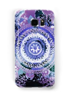 Watercolor digital art and illustrated mandala pattern in purples. • Also buy this artwork on phone cases, apparel, stickers, and more.