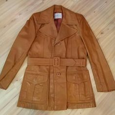 Vintage 70's Wilson leather jacket This jacket is gorgeous with all the 70s detail you could want. Amazing and in perfect condition. Fits like a 6/8. Measurements taken flat.  Bust 19.5, waist 18', hips 20'. Length 33' Vintage Jackets & Coats