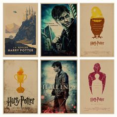 Harry Potter Retro Wall Sticker Poster (28 Designs)