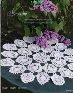 Crochet lace mat & pattern