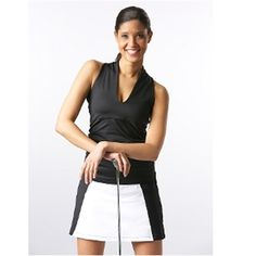 Black & White Colorblock Compression Golf Skort  | #Golf4Her