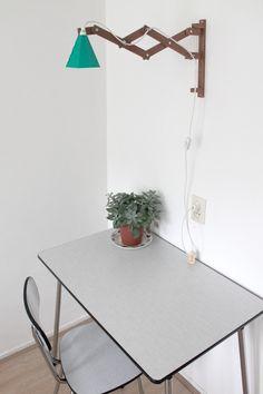 Arie wooden scissor lamp by Studio met made in Netherlands on CROWDYHOUSE