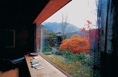 House Zumthor Haldenstein - Garden View from the 'Stube' © Damir Fabijanić