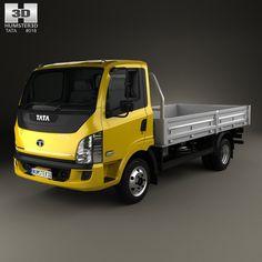 Tata Ultra 714 Flatbed Truck 2012 3d model from Hum3d.com.