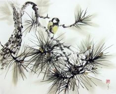 Japanese Ink Painting Ink art  Asian art Sumi-e by Suibokuga