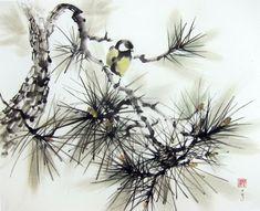 Japanese Ink Painting Ink art  Asian art Sumi-e by Suibokuga