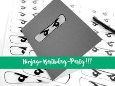 Ninjago Kindergeburtstag - hier findet ihr alles zur Ninjago Deko, den Ninjago Einladungskarten und der Ninjago Schnitzeljagd.