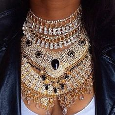 Fantasy accessory box statement necklace