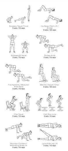 no equipment leg & booty workout