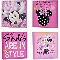 Disney Minnie Mouse Canvas Wall Art (4-Piece)