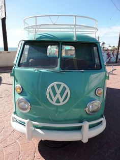 1964 VW DUAL TREASURE CHEST SINGLE CAB PICKUP WITH LUGGAGE RACK AND LADDER NICE EVERY DAY DRIVER Volkswagen Bus Vanagon Single Cab   eBay ♠ re-pinned by http://www.waterfront-properties.com/