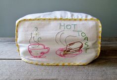 Embroidered Toaster Cover, via http://www.etsy.com/people/vealkutlets