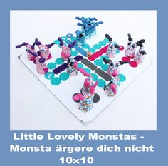 Monsta ärgere dich nicht - ITH 10x10 von SewDreams - Nähträume zum Kaufen auf DaWanda.com