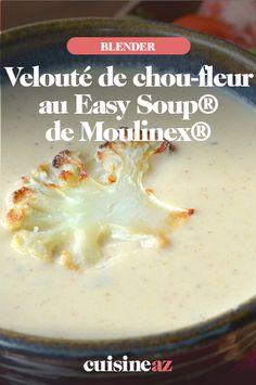 Grace au Easy Soup® de Moulinex® vous obtenez de bons veloutés comme ici au chou-fleur. #recette#cuisine#soupe#veloute #choufleur #blender #robot #blenderchauffant Grace, Comme, Robot, Pudding, Cheese, Foods, Ethnic Recipes, Easy, Desserts