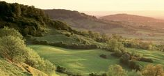 The green hillsides of the Cotswold Way