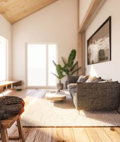 Visualisierung Wohnzimmer Home Decor, Architecture Visualization, New Construction, Environment, Living Room, Projects, Homes, Decoration Home, Room Decor