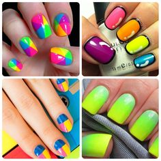 Neon nails! Which look do you love the most?   #nailart #manicure #nails